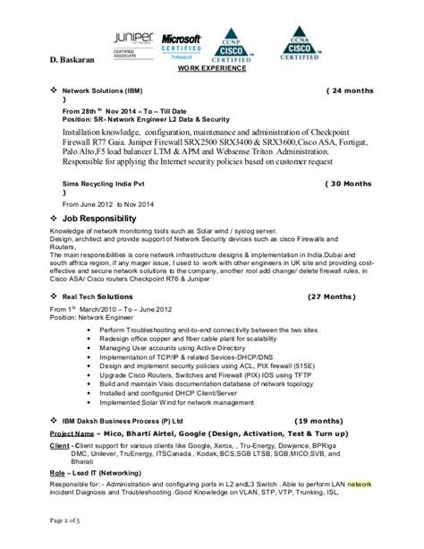 Checkpoint Firewall Administrator Resume